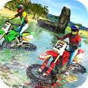 مسابقه موتور سواری ساحل آب