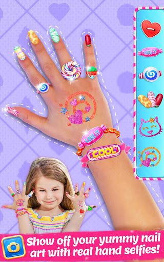 بازی اندروید مد شیرین ناخن - Candy Nail Art - Sweet Fashion