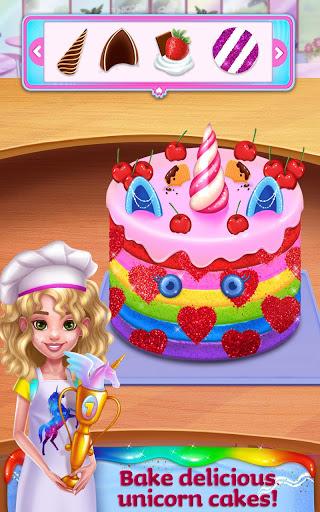 بازی اندروید غذای تک شاخ - مواد غذایی و مد رنگین کمان - Unicorn Food - Rainbow Glitter Food & Fashion