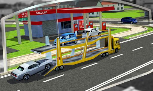 بازی اندروید تریلر حمل و نقل اتومبیل سه بعدی - 3D Car Transport Trailer Free