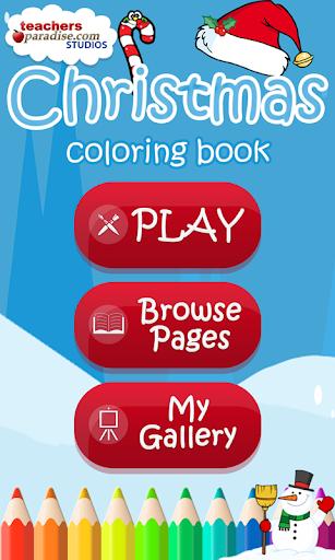 بازی اندروید کتاب رنگ آمیزی کریسمس - Christmas Coloring Book Games