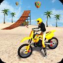بازی  ساحل موتور سواری - مسابقه شیرین کاری موتور