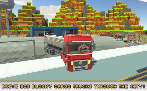 بازی اندروید شبیه ساز کامیون های مختلف - Blocky Truck Simulator 2018
