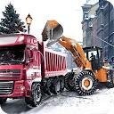 لودر و کامیون کمپرسی زمستان
