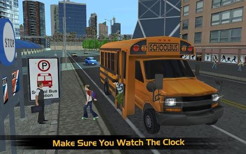 بازی اندروید شبیه ساز اتوبوس مدرسه 2017 - School Bus Simulator 2017