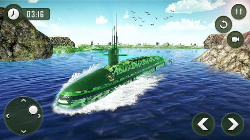 بازی اندروید حمل کننده ارتش - US Army Transporter Submarine Driving Games