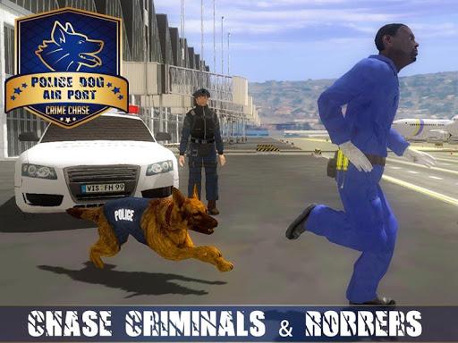 بازی اندروید تعقیب مجرم با سگ پلیس فرودگاه - Police Dog Airport Crime Chase