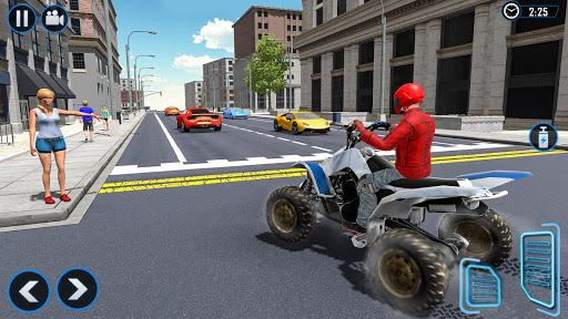بازی اندروید موتور تاکسی کویری 2020 - ATV Quad Bike Simulator 2020: Bike Taxi Games