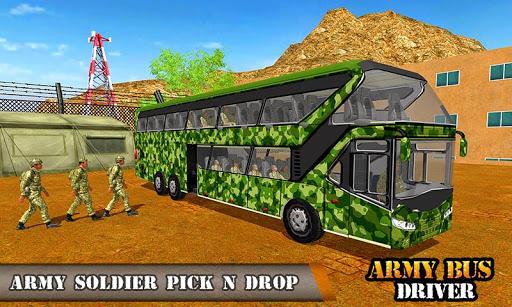 بازی اندروید راننده اتوبوس ارتش - حمل و نقل نظامی - Army Bus Driving 2017 - Military Coach Transporter