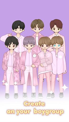 بازی اندروید ساخت عروسک - MYIDOL (#Dress up #BoyGroup #k-star #k-pop)