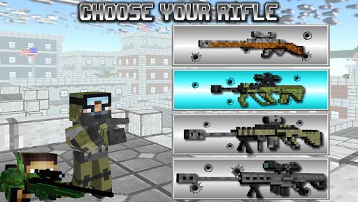 بازی اندروید بقاء تیرانداز بلوک آمریکایی - American Block Sniper Survival