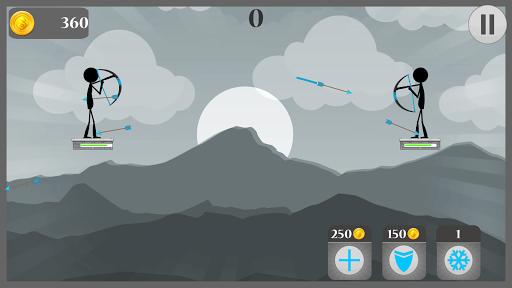 بازی اندروید تیر و کمان استیکمن - Arrow Battle Of Stickman - 2 player games