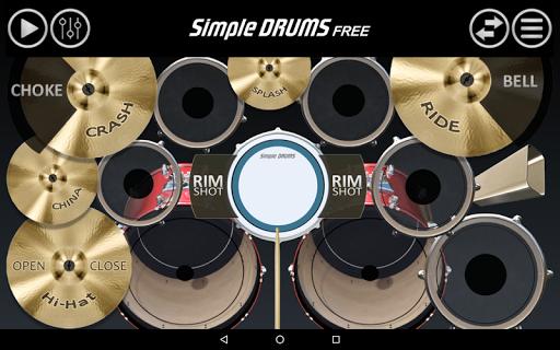 بازی اندروید طبل ساده - Simple Drums Free