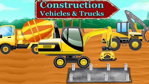 بازی اندروید کامیون های ساختمانی - بازی برای کودکان و نوجوانان - Construction Vehicles & Trucks - Games for Kids