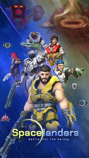 بازی اندروید زمین های فرود - شلیک علمی سه بعدی - Spacelanders: 3D Sci-Fi Shooter RPG