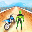 بازی مسابقه سوپر قهرمان بدلکار موتور -بازی مگا رمپ