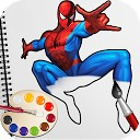 رنگ آمیزی قهرمان سوپر عنکبوتی