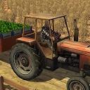 راننده تراکتور حمل محصولات مزرعه