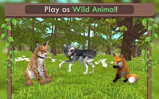 بازی اندروید حیوانات وحشی آنلاین - WildCraft: Animal Sim Online 3D