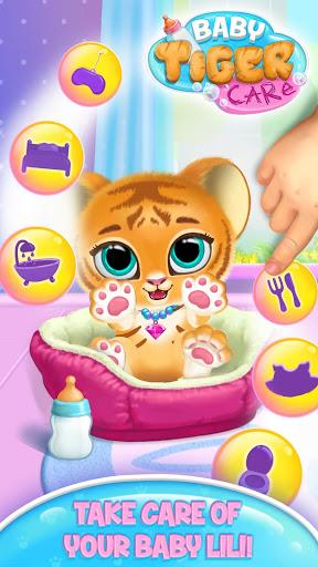 بازی اندروید مراقبت بچه ببر ناز مجازی - Baby Tiger Care - My Cute Virtual Pet Friend