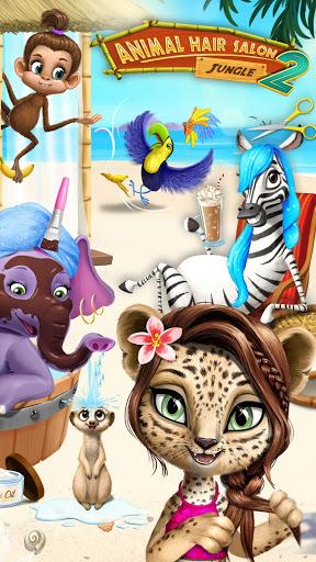 بازی اندروید سالن مو حیوانات جنگل 2 - سالن  زیبای گرمسیری  - Jungle Animal Hair Salon 2 - Tropical Beauty Salon