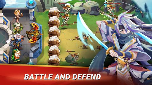 بازی اندروید مدافعه قلعه - دفاع قهرمان تنبل - Castle Defender: Hero Idle Defense TD