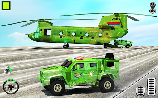 بازی اندروید هواپیمای حمل و نقل ارتش ایالات متحده - بازی های حمل و نقل اتومبیل - US Army Transporter Plane - Car Transporter Games