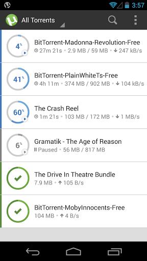 نرم افزار اندروید یوترنت - ترنت دانلودر - µTorrent®- Torrent Downloader