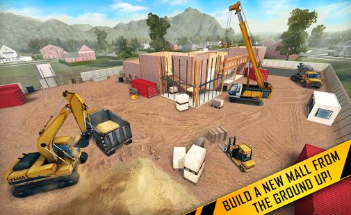 بازی اندروید ساخت شهر با جرثقیل و لودر - City builder 2016: County Mall