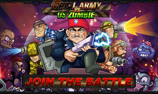 بازی اندروید ارتش فلزی در برابر زامبی - Metal Army vs US Zombie