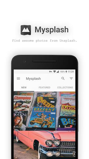 نرم افزار اندروید مای اسپلش - تصویربرداری و پس زمینه - Mysplash-photography&wallpaper