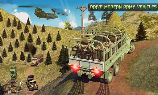 بازی اندروید راننده کامیون ارتش - Offroad Army Transporter Truck Driver: Army Games