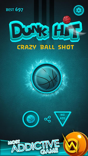 بازی اندروید پرتاب موفق - شلیک توپ دیوانه - Dunk Hit-Crazy Ball Shot