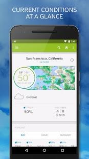 نرم افزار اندروید آب و هوای زیرزمینی - Weather Underground