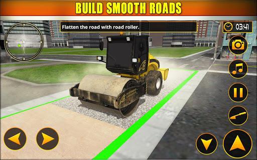 بازی اندروید سازنده شهر ساخت جاده - New Road Construction City Builder
