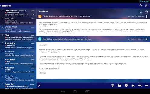 نرم افزار اندروید یاهو میل - Yahoo Mail – Free Email App