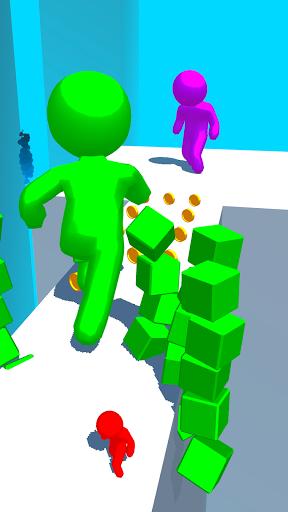 بازی اندروید استیکمن رنگی دونده - Color Run Stickman 3D