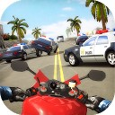 موتورسوار ترافیک بزرگراه