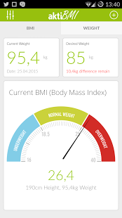 نرم افزار اندروید پیگیری کاهش وزن - وزن مناسب - Weight Loss Tracker, BMI