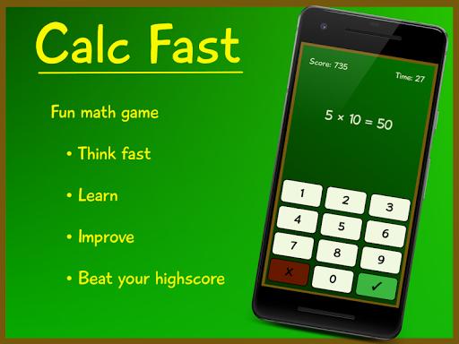بازی اندروید سریع حل کن - Calc Fast