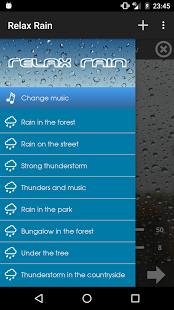 نرم افزار اندروید باران آرامش بخش - صدای بارش - Relax Rain ~ Rain Sounds