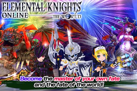 بازی اندروید شوالیه ها - RPG Elemental Knights(3D MMO)