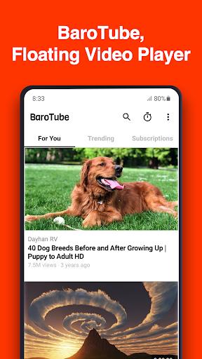 نرم افزار اندروید بیرو تیوب - BaroTube, Floating Video Player