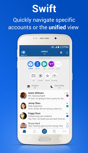 نرم افزار اندروید ایمیل آبی - Blue Mail - Email Exchange