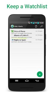 نرم افزار اندروید آژیر وب - Web Alert (Website Monitor)