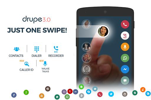 نرم افزار اندروید شماره گیر مخاطبین - Contacts Phone Dialer: drupe