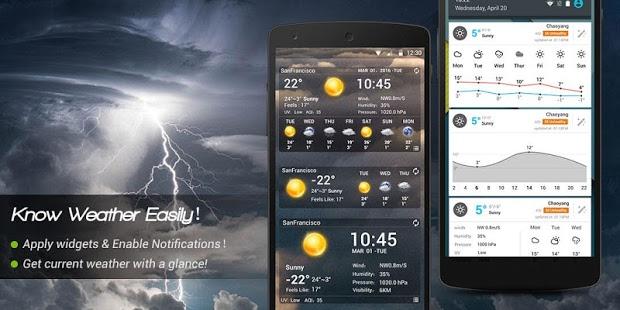 نرم افزار اندروید هواشناسی کهربا - Amber Weather - Local Forecast