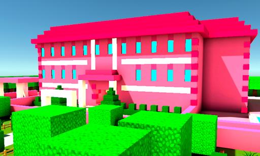 بازی اندروید مهارت خانه شاهزاده صورتی  - Pink Princess House Craft Game