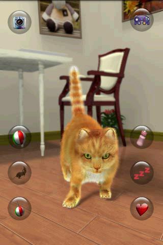 بازی اندروید صحبت کردن گربه دوست داشتنی - Talking Lovely Cat