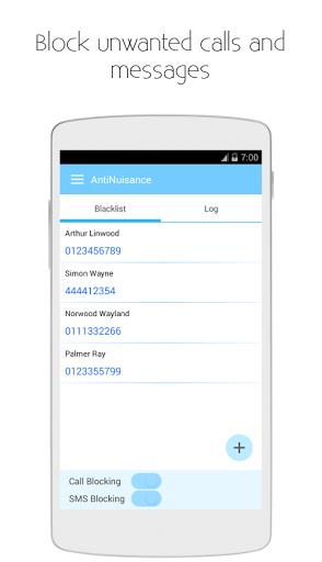 نرم افزار اندروید ضد آزار - بلاک تماس و پیامک - AntiNuisance - Call Blocker and SMS Blocker